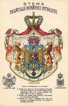 Stema Regala - Category:Coats of arms of the Romanian Kingdom - Wikimedia Commons Romania Map, Romania Travel, Bucharest Romania, Michael I Of Romania, History Of Romania, Romanian Royal Family, Romanian Flag, Romania People, Coat Of Arms