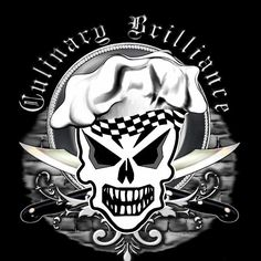 Chef Skull 2: Culinary Brilliance - A cool chef skull design by sdesiata on t-shirts, hoodies, phone covers, and more, @ RedBubble! E-mail : sdesiata@yahoo.com