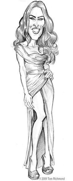 Megan Fox  (by Tom Richmond)