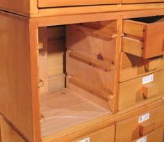 Wooden drawer slides. Have lots of tips on how to make drawers