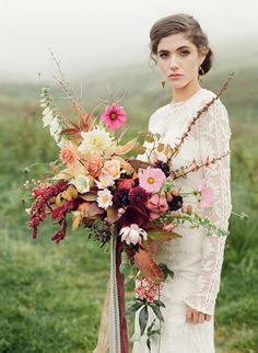 fine art film photography Taylor & Porter Scotland wedding bride bouquet Pyrus Rue De Seine