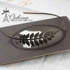 2Pcs  Antique Bronze Plated Filigree Leaves by clothcampDIY