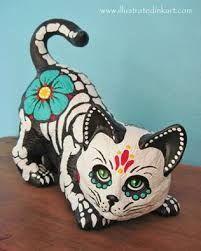 Image result for blog halloween ceramic painted black red eyes 2015