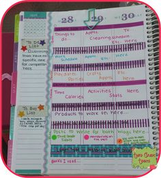 Erin Condren Life Planner - splitting up the columns into more boxes.Erin Condren Life Planner: DIY ideas