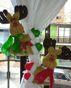 Aprende con Sara: Moldes de Renos navideños para sujetar cortinas Rustic Christmas, Christmas 2019, Christmas Holidays, Merry Christmas, Christmas Ideas, Spanish Holidays, Projects To Try, Holiday Decor, Floral
