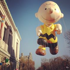 Charlie Brown at the Macy's Thanksgiving Day Parade. #macysparade #nyc