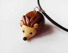 Polymer Clay Cute Hedgehog Necklace