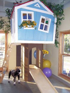 I would love to one day have an indoor tree house - obsessed w/ play stuff like this!