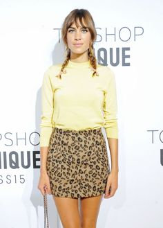 alexa chung rocking the pigtails