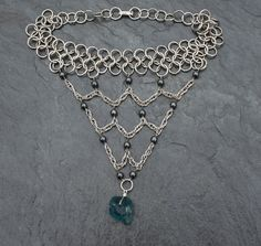 Stainless Steel Chainmaille Choker with by StrangeLittleGirl