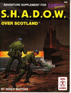 S.H.A.D.O.W. over Scotland Hero Games, Werewolf, Scotland, Horror, Gaming, Adventure, Cover, Rpg, Videogames