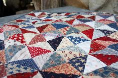 More red, white and blue - Diary of a Quilter - a quilt blog