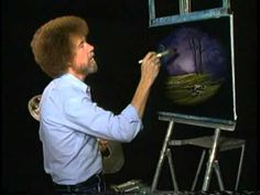 Bob Ross: The Joy of Painting - A Thin Paint Will Stick to a Thick Paint - YouTube