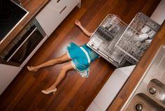 Sexy Dead Legs Kitchen Accident Heels