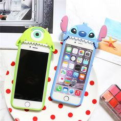 Cell Phone Cases - Cute Disney Stitch Mike Soft Rubber Silicone Case Cover for iPhone 6 Plus Cute Cases, Cute Phone Cases, Iphone Phone Cases, Rubber Iphone 6 Case, Iphone Cases For Girls, Stitch Disney, Lilo E Stitch, Coque Iphone 4, Disney Collection