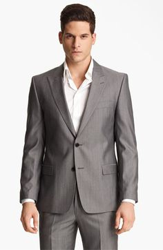 $1295 Versace Trim Fit Stripe Suit available at #Nordstrom