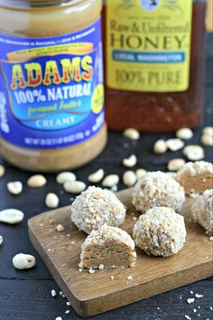 These No-Bake Honey Nut Truffles are the perfect little treat to have on hand for anytime you want a healthy sweet treat! Healthy Sweet Treats, Paleo Treats, No Bake Treats, Healthy Desserts, Delicious Desserts, Healthy Foods, Paleo Dessert, Dessert Recipes, Paleo Recipes