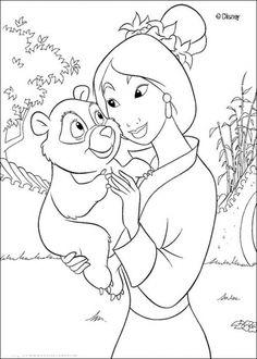 Disney Mulan Coloring Pages 2