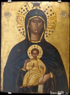 Panagia the Nicoperos Thomas Bathas (?) In this picture, the Virgin is portrayed as semi-frontal and frontal, holding Christ with both hands in front of her chest and on the axis of her body. Religious Images, Religious Icons, Religious Art, Byzantine Icons, Byzantine Art, Greek Icons, Best Icons, Madonna And Child, Orthodox Icons