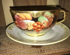 Antique LIMOGES 3 piece set. 1890-1912-teacup Saucer Signed