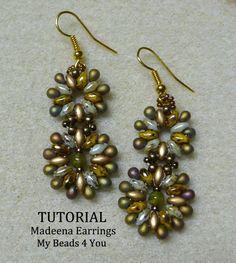 PDF  Beaded Earrings Tutorial SuperDuo Tutorial by mybeads4you, $6.00