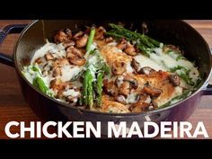 Creamy Chicken Madeira - (Cheesecake Factory Copycat Recipe) Chicken Madeira with juicy chicken and mushrooms in a creamy sauce with melty cheese. Creamy Chicken Madeira is a Cheesecake Factory copycat recipe! Chicken Madeira Cheesecake Factory, Cheesecake Factory Copycat, Kitchen Recipes, Cooking Recipes, Paleo Recipes, Yummy Recipes, Creamy Chicken, Pesto Chicken, Copycat Recipes