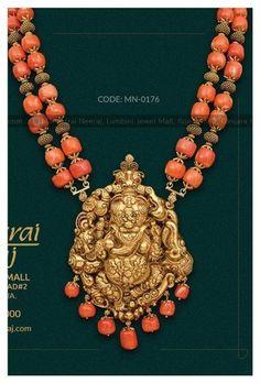 Beaded Jewelry Designs, Gold Jewellery Design, Bead Jewellery, Temple Jewellery, Jewelry Patterns, Jewlery, Handmade Jewellery, Vanki Designs Jewellery, Designer Jewellery