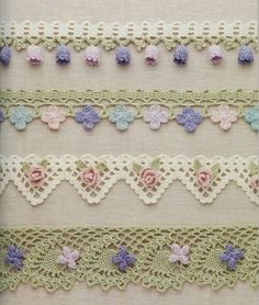 Crocheting - an elegant binding of the edge and the rim. Discussion on LiveInternet - Russian Online Diaries Service Crochet Bobble, Moogly Crochet, Crochet Blanket Edging, Crochet Cord, Crochet Towel, Crochet Lace Edging, Crochet Borders, Crochet Flower Patterns, Crochet Flowers