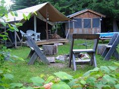 Huckleberry Tent and Breakfast. Camping Bed and Breakfast near Sandpoint Idaho