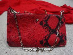 FIORUCCI Vintage Handbag by Italian designer  red clutch or