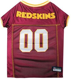 ca7e4568196 Shop for licensed NFL dog jersey s at Pet Stop Store. This Washington  Redskins dog jersey is made of satin and poly mesh woven trim on neck and  sleeves