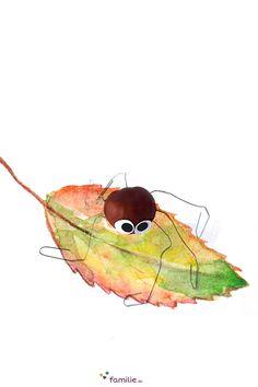 Jeder sollt eine Kastanien-Spinne mit Wackelaugen haben! Teenager, Kindergarten, Baby, Children, Crafts, Painting, Kids Discipline, Spider, Day Care