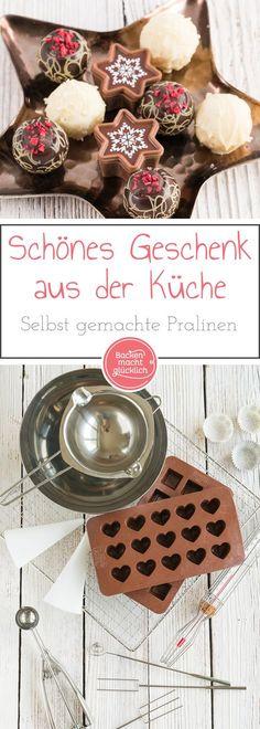 Selbst gemachte Pralinen sind das ultimative Geschenk aus der Küche. Und mit diesem Basic Guide gelingen garantiert jedem wunderschöne und leckere Pralinen als individuelles Weihnachtsgeschenk.