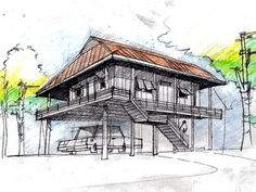 1000 images about more stilt homes can be container for Modular homes on stilts