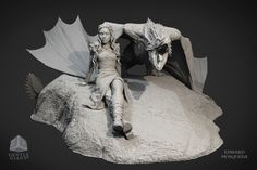 ArtStation - Daenerys Targaryen / Drogon - Game of Thrones statue , edward mosqueda