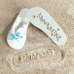 """""""Just Married"""" Flip Flops Stamp Your Message in the Sand! (9/10) Fun Express http://www.amazon.com/dp/B004FNRR2C/ref=cm_sw_r_pi_dp_rkO0ub1WVE33A"""