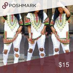 Dashiki White dashiki Dresses