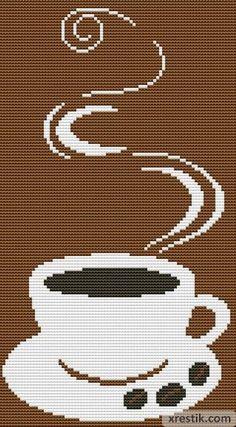 Kofe----65300 Схема для вышивки scheme for cross stitch