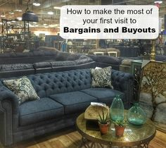 When you step into Bargains and Buyouts for the 1st time, it's easy to feel like a kid in a candy store. The space is enormous and there is eye candy everywhere! So what is Bargains and Buyouts? They offer some liquidation, un-used, and brand new overstock products that their suppliers were willing to let …