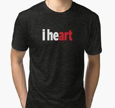 I Heart Art by Black-Fox Heart Art, My Heart, Finding Yourself, Fox, Artist, T Shirt, Black, Supreme T Shirt, Tee Shirt