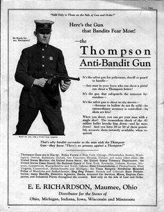Thompson Anti-Bandit Gun, 1920s