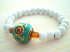 Yoga Bracelet  Mala Bracelet  Nepal Beads Bracelet  by Gnosticos, $24.00