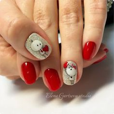 In look for some nail designs and some ideas for your nails? Here is our list of must-try coffin acrylic nails for modern women. Fancy Nails, Red Nails, Love Nails, Holiday Nails, Christmas Nails, Gorgeous Nails, Pretty Nails, Valentine's Day Nail Designs, Nails Design