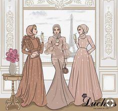 Fashion Illustration Sketches, Fashion Sketchbook, Fashion Sketches, Hijab Fashion, Fashion Art, Hijab Gown, Hijab Drawing, Fashion Design Template, Fashion Drawing Dresses
