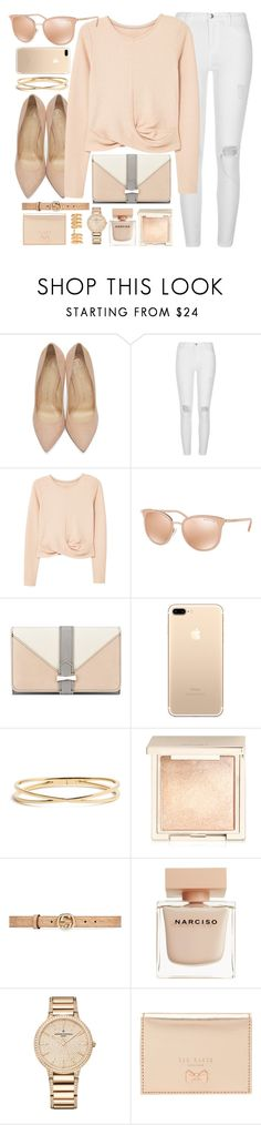 """""""Light & Bright"""" by smartbuyglasses ❤ liked on Polyvore featuring Charlotte Olympia, River Island, MANGO, Michael Kors, Nine West, Nadri, Jouer, Gucci, Narciso Rodriguez and Vacheron Constantin"""