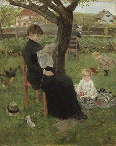 In the summer resort (1883). Fritz von Uhde (German, 1848-1911)