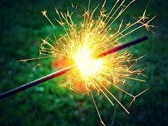Make a Homemade Sparkler: Sparklers are a type of firework that produces a shower of glittery sparks, but does not explode.