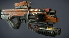 ArtStation - Elysium 'Crowe' Rifle Variant, Josh Rife
