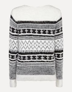 Damen Pullover mit Norweger-Dessin
