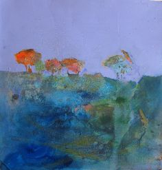 Blue Mood...Judy Thorley TWS - Mixed Media Artist